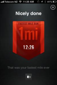 Fastest 1Mile 18.01.2013