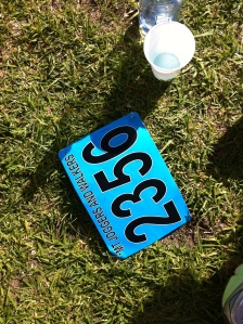 Race bib and R-Line