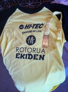 Ekiden 2013 Shirt and Medal | On a Jam Hunt Blog