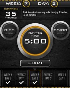 c25k Day 2 Week 7