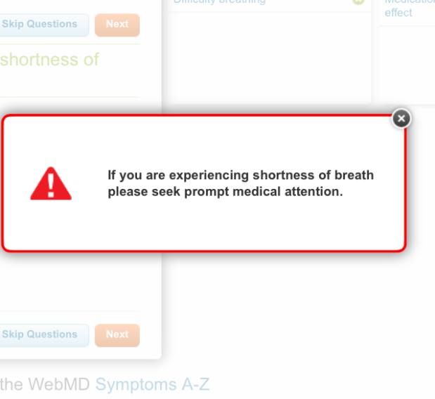 Checking the Severity with Online Symptom checker haha