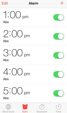 Ab Alarms